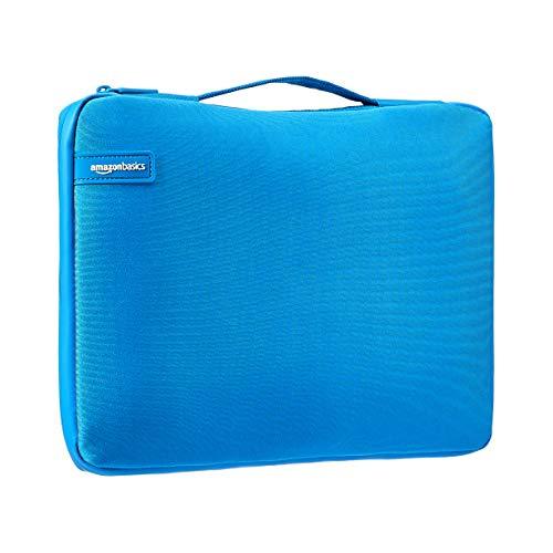 Amazon Basics - Professionelle Laptop-Hülle (mit einziehbarem Griff), für Laptops bis 39,62 cm - blau