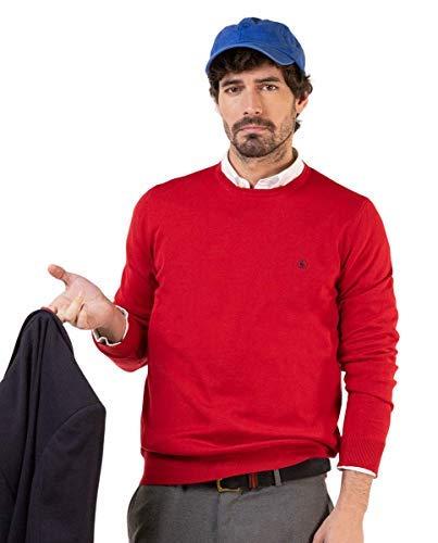 El Ganso Jersey Cuello Caja Algodón Rojo