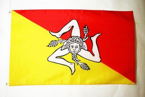 AZ FLAG Flagge SIZILIEN 150x90cm - SIZILIEN Fahne 90 x 150 cm - flaggen Top Qualität