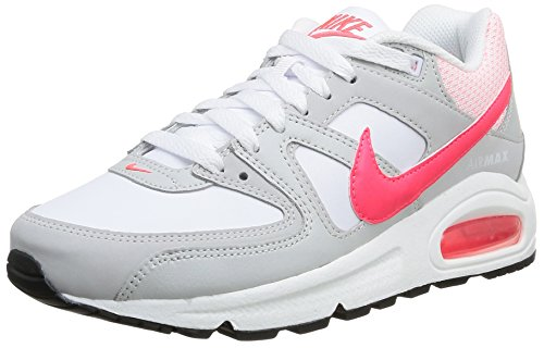 Nike Wmns Air MAX Command, Zapatillas de Deporte Mujer, Blanco (White/Hyper Punch-Lght Ash Gry), 41