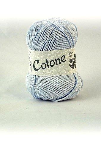 Lana Grossa Cotone 008 minimal blue 50g Wolle