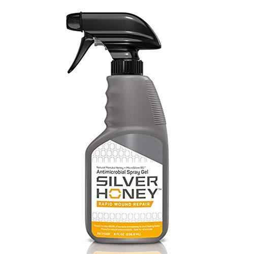 Absorbine Silver Honey Rapid Wound Repair Spray Gel, Manuka Honey & MicroSilver BG, Veterinarian Tested Horse & Animal Wound Care, 8oz Bottle