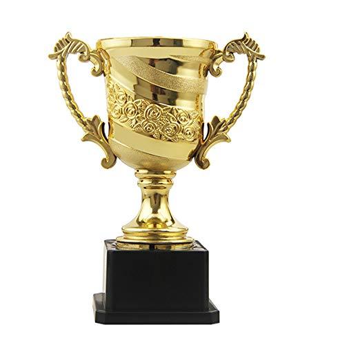 PRDECE Escultura Decoración Regalo Moderno Creativo Estatuilla Ornamentos Decorativo Trofeo Mini Gold Awards Personalizado para niños Trofeos de Premio chapados en Oro Niños