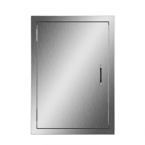 CO-Z Upgraded Outdoor Kitchen Doors, 304 Brushed Stainless Steel Single Access BBQ Doors for Outdoor Kitchen, Commercial BBQ Island, Grilling Station, Outside Cabinet, Barbeque Grill (17
