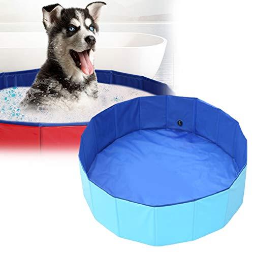 HNWTKJ Opvouwbaar Hondenzwembad Huisdierbad, Pierenbadje Voor Kinderen, Hondenbad Zwembadbad Antislip Ballenbak Poedelbad Voor Tuin Patio Badkamer (Color : Blue, Size : 80 * 20cm)