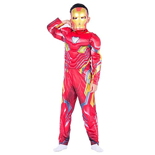 CHANG Cosplay 3D Stretto Natale Halloween Fancy DressNano Iron Man Battle Suit Costume The Avengers 4 Costume,M