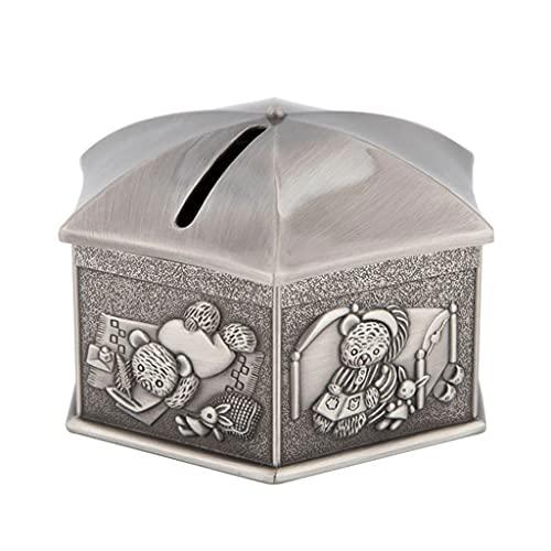 YHYH Banco De Dinero De Metal De Aleación De Zinc,Forma De Tienda De Campaña Hexagonal, Hucha De Estaño Antiguo, Banco De Monedas (Color : 1pcs)