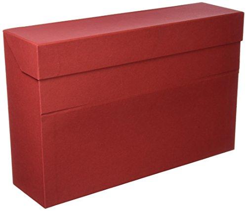 Elba 100580263 - Caja de transferencia de cartón forrado con tela, 10 cm, color rojo