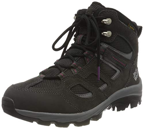 Jack Wolfskin Damen Vojo 3 Texapore MID W Outdoorschuhe, Dark Steel/Purple, 42 EU