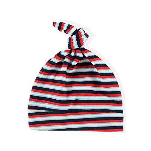 Kenebo Uisex Two-Piece Cotton Newborn Baby-Mütze Cartoon Monkey Stripes Gr. L, Rayures Rouges et...