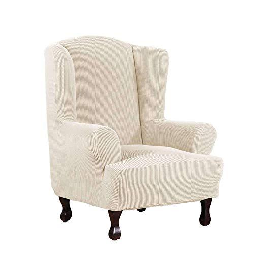 BEIGOO Sesselbezug Ohrensessel Ohrensessel, Stretch Husse für Ohrensessel - 1 Sitzer-E