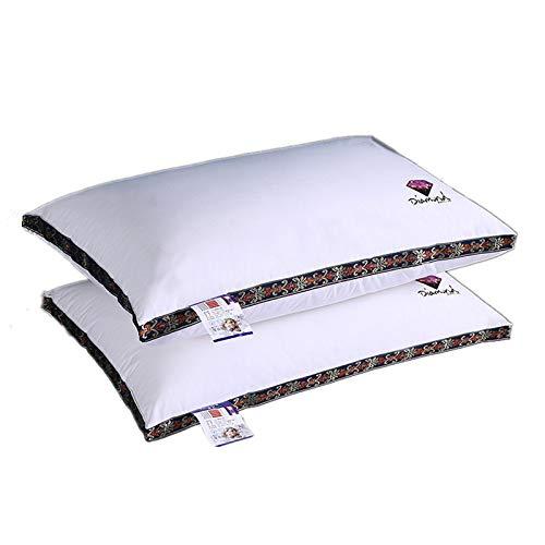 IADZ - Pack de 1 almohadas de Fibra Supersuave lavables 48x74 cm. (Todas Las Medidas). Tratamiento Aloe...