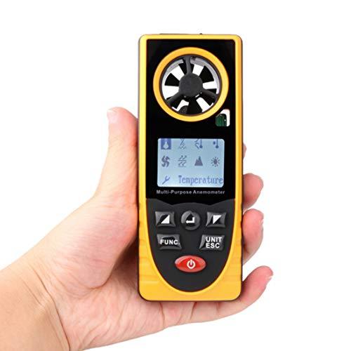 Dingziyue Digital-Anemometer GM8910 Windgeschwindigkeit Messung Temperaturmessung Einfache High Precision Kleine tragbare tragbare Bequeme LCD mit Hintergrundbeleuchtung Probe (Edition : GM8910)