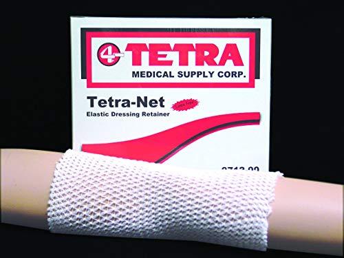Tetra-Net Elastic Dressing Retainer Size 8, 25Yd/roll Latex-Free Fits: XL Thigh, Large Head, Medium Chest or Abdomen