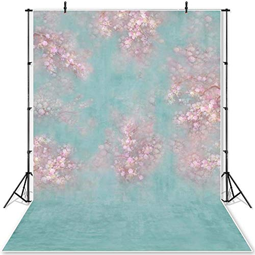 JIAHUI Fondo de fotografía de interior para fotografía de boda, diseño floral, para estudio fotográfico, retrato (color: P0635, tamaño: vinilo fino, 180 x 270 cm)