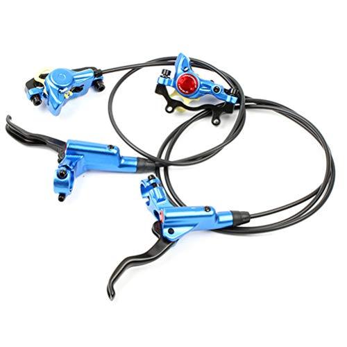 SASKATE Juego de frenos de disco hidráulicos, HB-875 Mountain Bike MTB Freno de disco hidráulico de aleación de aluminio delantero/trasero 850mm/1400mm (izquierdo y derecho)