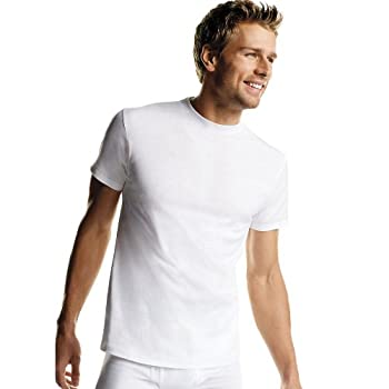 Hanes Men s Tagless Comfort Soft Crew Undershirt – Multiple Packs and Colors 6 Pack-White X Large