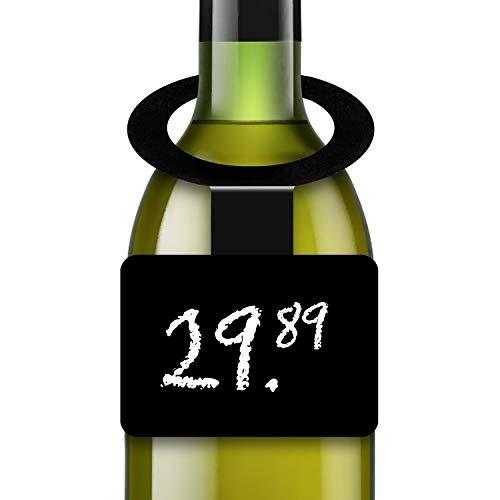 10 Pack Plastic Wine Bottle Neck Tags - Chalkboard Hanging Tags for Bottles - Bottle Hanging Chalkboard Tags - Reusable Hanging Tags for Bottle - Hang Mini Chalk Board Tags Hanging Tags for Bottle