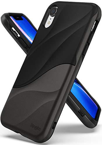 Ringke Wave Custodia Compatibile con Apple iPhone XR, Salvaguardia dello Strato TPU Interno Morbido, Custodia Rigida per PC Pesante Assorbimento Design Movimento Cover iPhone XR - Metallic Chrome
