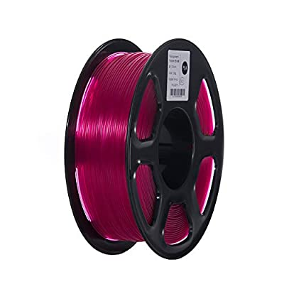 TOPZEAL 3D Printer Filament, Transparent Series Color PLA Filament 1.75mm, Dimensional Accuracy +/- 0.05mm, 2.2LBS(1KG) Spool for 3D Printer and 3D Pen (Transparent-Purple)