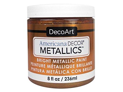 Deco Art Americana–Decoración Jarra de metálico de Pintura, acrílico, Bronce, 7x 7x 8cm