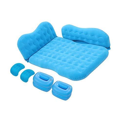 MIAO Matelas pneumatique à Coussin de Voyage sur Le siège arrière d'un lit Gonflable Portable avec Pompe à air pour Voiture, Bleu, T1