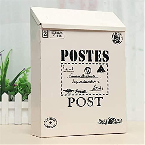 Yxsd brievenbus vintage vergrendeling voor brievenbussen van metaal aan de muur met watermeloen in de buitenlucht