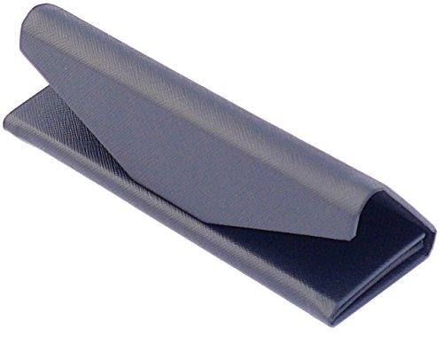 Funda para gafas WOO LANDO, cierre magnético, plegable, resistente a la presión, 1,9 cm de altura, tamaño de bolsillo, color negro, tacto de tela y flocado en el interior