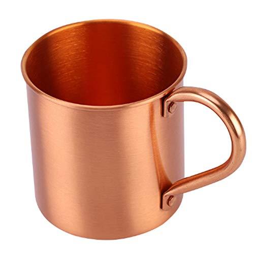Growment Reines Kupfer Moskau Mule Mug Solid Glatt Ohne Innen Auskleidung für Cocktail Kaffee Bier Milch Wasser Tasse Haus Bar Trink Werkzeug
