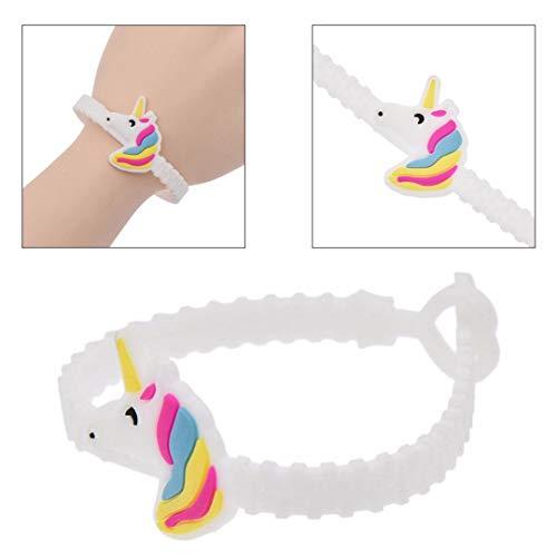 takestop® Set van 12 stuks armbanden eenhoorn rubber verjaardag regenboog UNICORNI decoratie bonnière party kinderen cadeau
