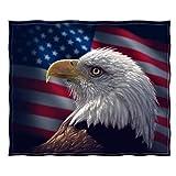 Dawhud Direct Fleece Throw Blanket by Collin Bogle (Bald Eagle Portrait)