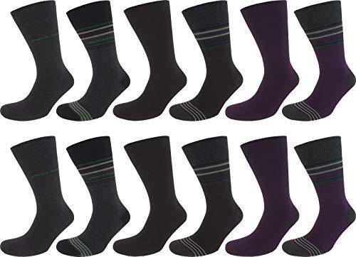 Pierre Cardin 12 Paar Serge Herren Business-Socken, Anzug-Socken 75% Baumwolle (12, 39-42)