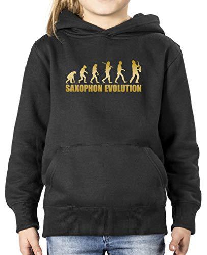 Comedy Shirts - Fitness-Pullover & -Sweatshirts für Mädchen in Schwarz / Gold, Größe 98-104