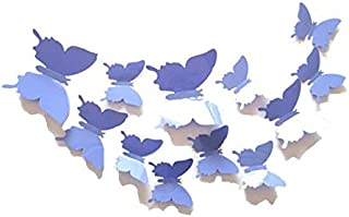 12pcs 3D purple Butterfly Sticker Decal Magnet Wall Stickers Art Design Home Decoration