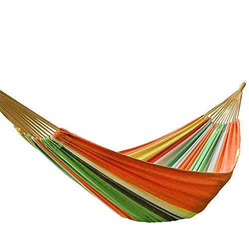 Hamaca de viaje al aire libre hamaca de doble portátil portátil longitud liviana de lona gruesa para color de caramelo en hogares, como patios traseros y terrazas, tiendas de almohadilla para dormir.