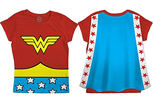 - Wonder Woman Caped T Shirt