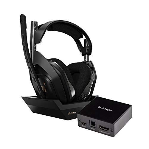 ASTRO Gaming A50 Casque sans Fil + Station de Charge Gamer + Adaptateur HDMI pour PS5 avec équilibre Entre Le Son du Jeu et de la Voix Parfait, Compatible avec la Station d'Accueil A50