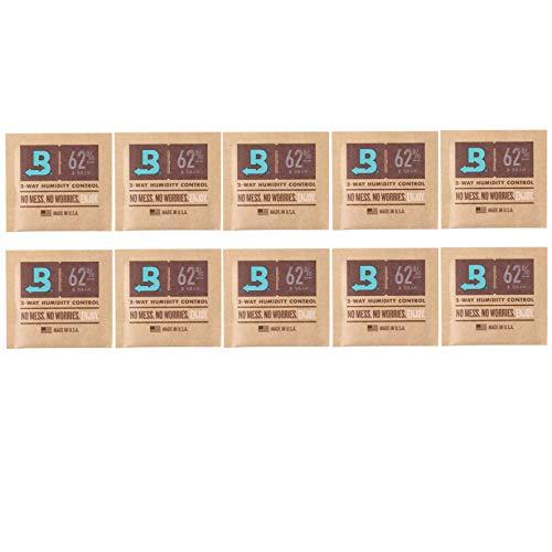 Boveda 10 umidificatori per sigari al 62%, a 2 vie, da 8g (etichetta in lingua italiana non...