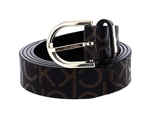 Calvin Klein CK Must Round Belt W90 Brown Mono