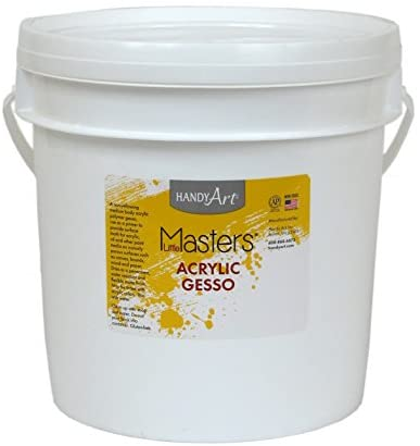 Handy Art Little Masters Economy Acrylic Gallon, White Gesso