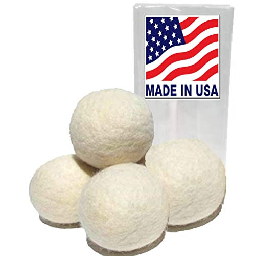 Handmade Wool Dryer Balls - Set of Four -Made in...