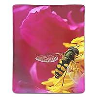 マウスパッド 蜂と花 レーザー&光学マウス対応 防水/洗える/滑り止め サイズ:18 x 22 x 0.3 cm