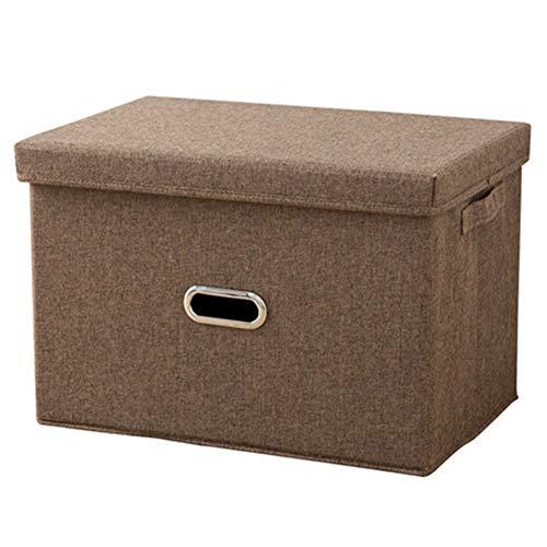 ZCFXGHH Kleidung Lagerung, Folding Kleidung Aufbewahrungsbox Stoff Schlaf Kleidung Organizer Haushalt Storage Box 2 Arten, 4 Farben,B,37X27X26CM