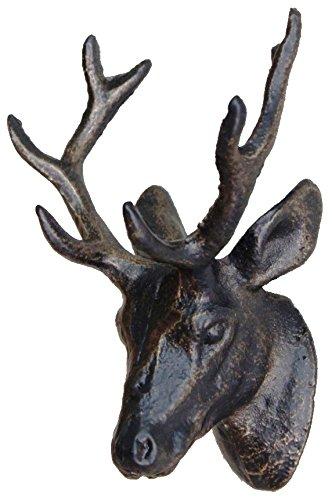 村田屋 アンティーク調 鹿の壁飾り ウォールアイアンディアー 6694