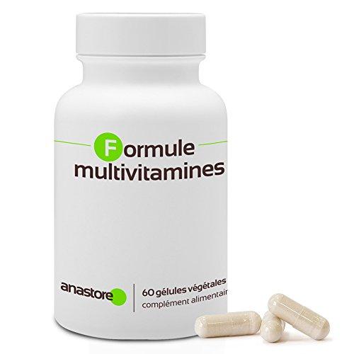 FORMULA MULTIVITAMINICA * 750 mg / 60 capsule * Prevenzione e/o correzione dei disturbi legati ad alimentazione stanchezza e stress * 100% soddisfatti o rimborsati * Fabbricato in Francia