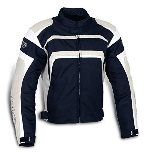 Jet Motorradjacke Motoradkleidung Herren Mit Protektoren Textil Wasserdicht Winddicht STRIKER (M (EU 48-50), Silber-Grau)