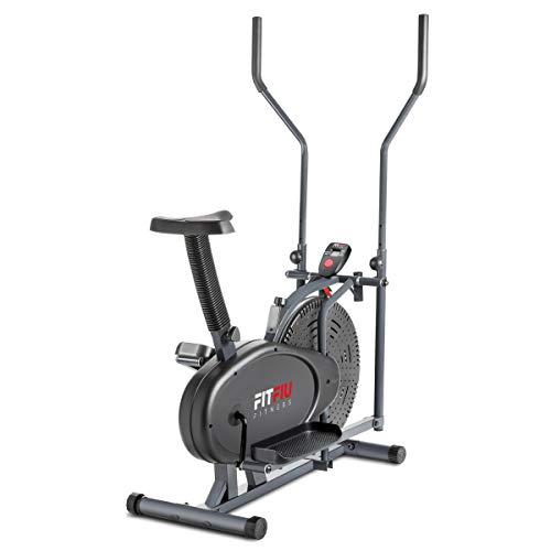 FITFIU Fitness ORB2000S Bicicleta elíptica estática, Unisex Adulto, Gris, 5kg