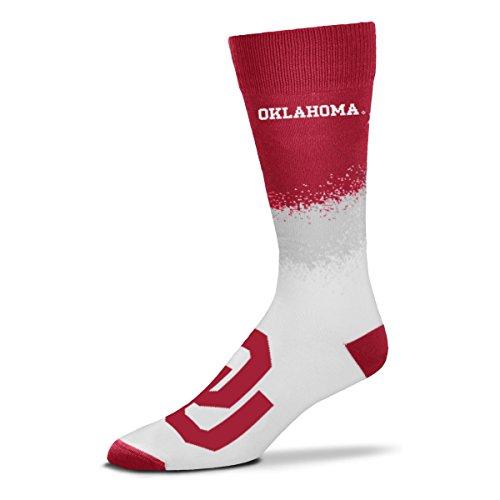 Für Bare Feet NCAA Festzelt Crew Socks Größe–Groß (10–13), Unisex, Oklahoma Sooners