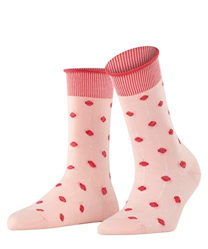 ESPRIT Damen Rolled Cuff & Dots W SO Hausschuh-Socken, Rosa (Mistyrose 8667), 39-42 (UK 5.5-8 Ι US 8-10.5) (2er Pack)
