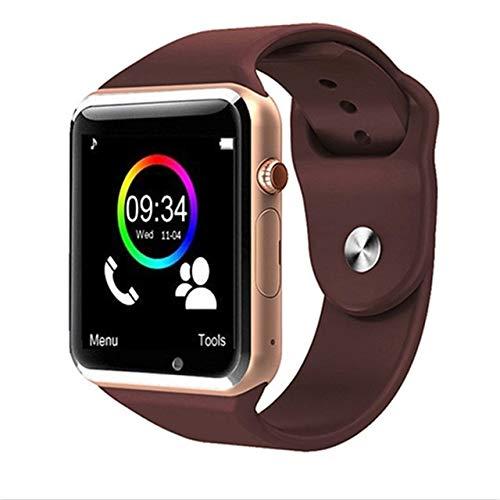 ZTYY Reloj Inteligente for Niños Hombres Mujeres Android Bluetooth SmartWatch con Ayuda de la cámara de Llamadas Música Fotografía SIM TF Card & amp (Color : Gold)